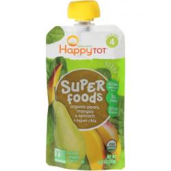 Happy Tot Organic Pears, Mangos & Spinach + Super Chia