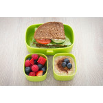 Look Back Lunch Box for Kids Adults, One layer and Two Small Compartments, Leak Proof, FDA Approved-Green