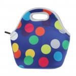 حقيبة غداء للسفر - نقاط كبيرة متعددة الألوان