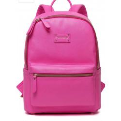 Colorland Fashion Travel Bag Organizer Backpack Diaper Bag Mummy Bag PU Leather - Pink