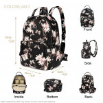 Colorland Mirabelle Faux Leather Diaper Backpack- Flower