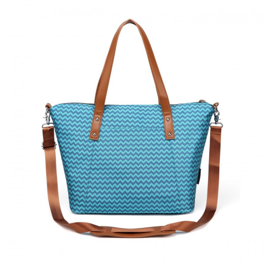Colorland Avril Multi Functional Mummy Bag Diaper Bag - Blue Chevron
