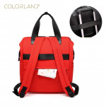 ColorLand Zara Unisex Baby Diaper Backpack water Resistant (Red)
