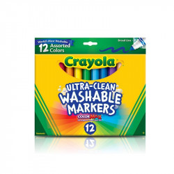 Crayola Broadline Pends1X12  12 Ultra-Clean Washable Markers