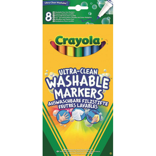 Crayola 8 Ultra Clean Fineline Washable Markers 1*12