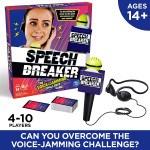 Hasbro - Speech Breaker Game Voice Jamming Challenge Microphone Headset Electronic Party Game