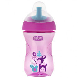 Chicco First Straw Trainer No Spill Sippy Cup 12M+, 9oz, Pink