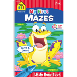School Zone - My First Mazes Little Busy Book