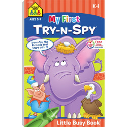 School Zone - My First Try & Spy - Little Busy Book