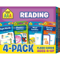 School Zone - Reading Flash Card 4-Pack