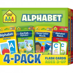 School Zone- alphabet 4-pack