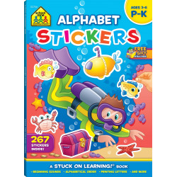 School Zone- alphabet stickers P-K 3-6
