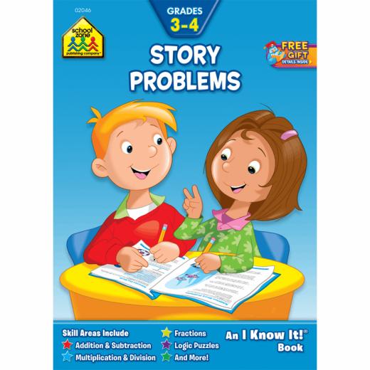 School Zone - Word Problems Workbook Grades 3-4