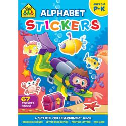 School Zone - Alphabet Stickers Workbook