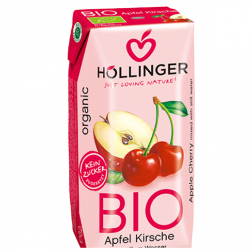 Hollinger Organic Apple Cherry Juice 200ml