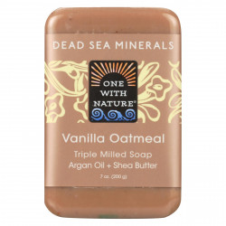 One With Nature Dead Sea Spa Triple Milled Mineral Soap Vanilla Oatmeal