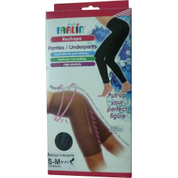 Farlin Reshape Under Pants, Size Small&Meduim, Black