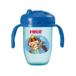 Farlin - Gulu Gulu 2 Straw Drinking Cup 240ML - Blue