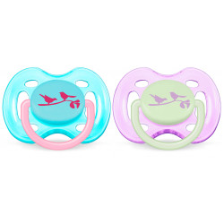 Avent Pacifiers - Free Flow, Blue and Purple, 0-6m