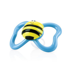 Nuby 2 Pack Pacifiers 3D Bug, Blue