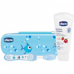 Chicco Oral Set Light Without Fluoride, Blue