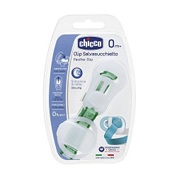Chicco Clip With Teat Cover- Lumi