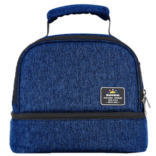 Sunveno Insulated Bottle & Lunch Bag, Navy Blue