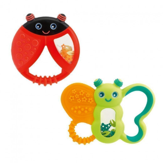 Chicco Funny Relax Teether (6M+), Butterfly or Ladybug