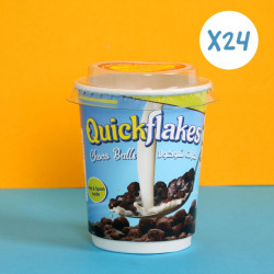 Quickflakes Choco Balls - Box of 24 Cup