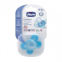 Chicco Physio Comfort Soother With Case Silicone 6-12M (Blue) - 1 Piece
