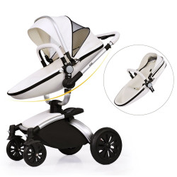 AiQi® Pushchair (3 in 1) Prams Travel System with Bassinet 360 Degrees - Angle