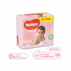 Huggies - For Soft Skin 168 Wipes