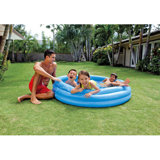 Crystal Blue Pool, 3-Ring, Ages 2+, 1.47m x 33 cm
