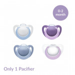 NUK Genius Silicone Orthodontic Soother 0-2 months, Assorted Colors
