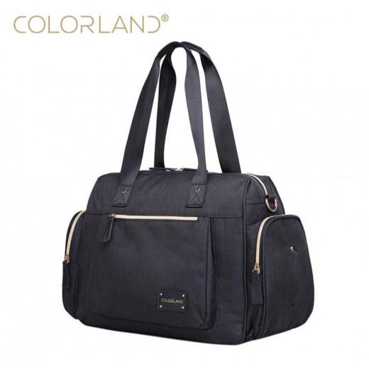 Colorland Large Capacity Maternity Mummy Bags, Black