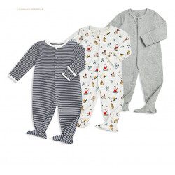 Colorland - (1) Baby Romper 3 Pieces In One Pack - 0-3 Months