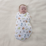 Chicco Swaddle Set X2 Pieces, Light Grey Animals