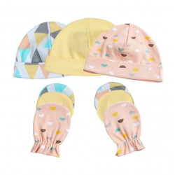 Colorland = (1) Baby Hat & Gloves 3 Pieces In One Pack