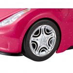 سيارة وردية جلام الرياضة القابلة للتحويل ، لعبة سيارة للدمية من باربي