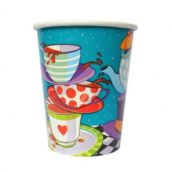 Amscan 9oz Paper Alice in Wonderland Tea Party Cups, 8 Cups
