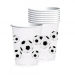 Amscan - Soccer Fan Plastic Cups X8 pieces