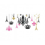 Amscan - A Day in Paris Glitter Chandelier Kit - 17 pieces