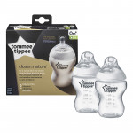 Tommee Tippee Closer to Nature 260 ml Feeding Bottles, X2 Bottles