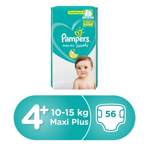 PAMPERS Baby Dry Size 4+ (10 to15)kg - 56 Layers