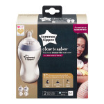 Tommee Tippee Closer to Nature Clear Bottles, 340 ml, 2 Count