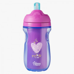 Tommee Tippee Insulated Straw Cup, Purple