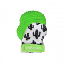 Munch Mitt Teething Mitten, Green Cactus