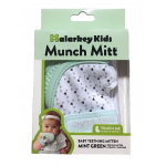 Munch Mitt Teething Mitten, Mint Green Triangles