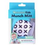 Munch Mitt Teething Mitten, Aqua Blue XO