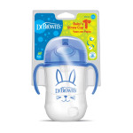 Dr. Brown's Baby's First Straw Cup w/ Handles, 270 ml, Blue
